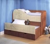 Кровать детская двухуровневая  раздвижная
