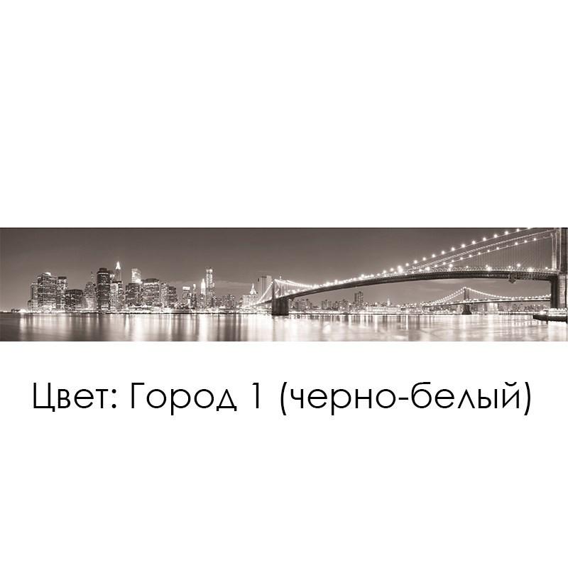 КУХОННЫЙ ФАРТУК «ГОРОД» (1) ЧЕРНО-БЕЛЫЙ, (ХДФ, АБС)
