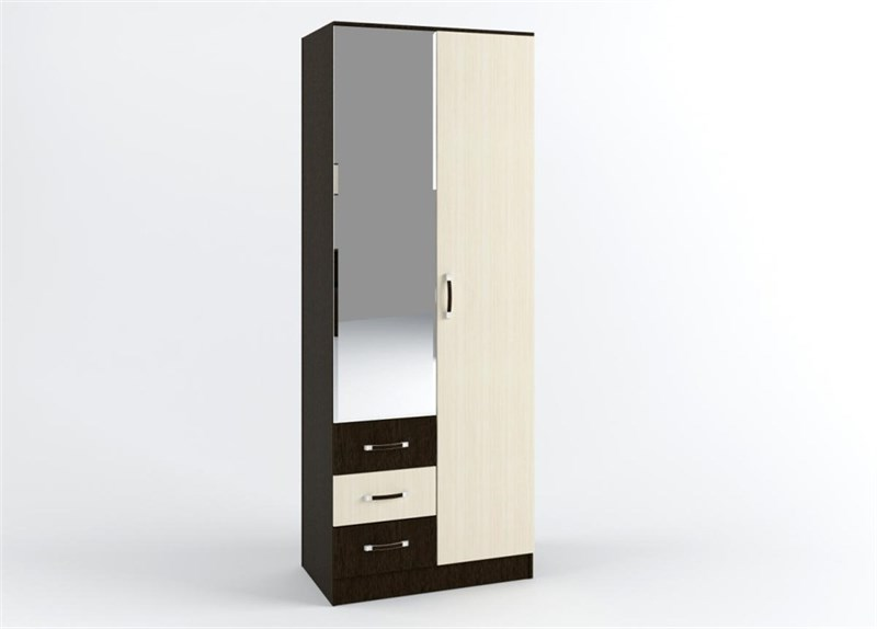 Шкаф «Ронда» 2-х створчатый (ящики и штанга) 800.3 - фото 11204