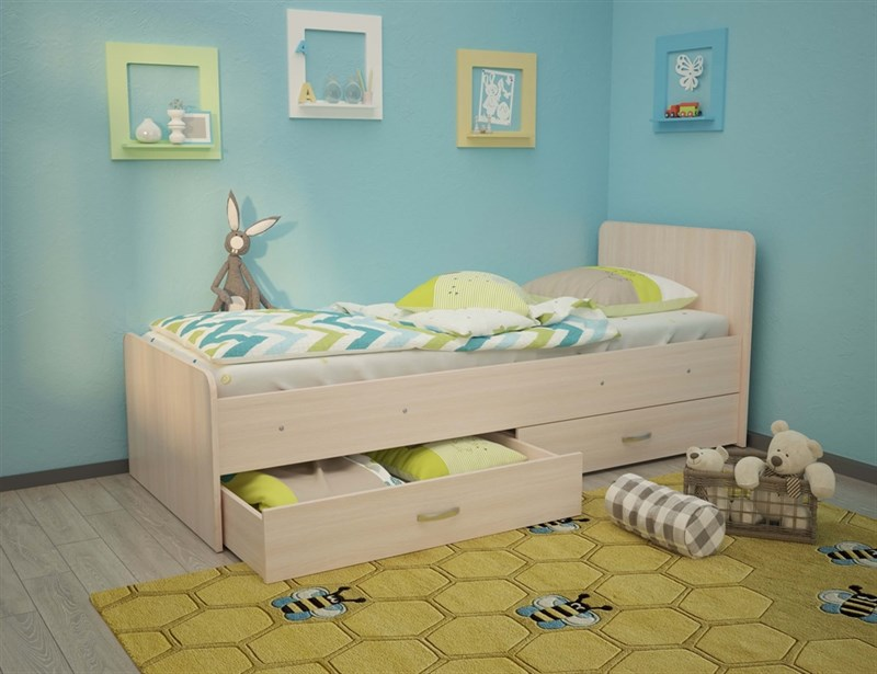 """Детская кровать """"Антошка"""" без бортика - фото 12392"""