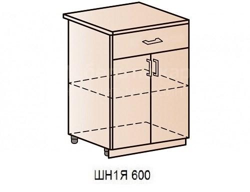 """Кухня """"Валерия-М"""" ШН1Я 600М Шкаф нижний двухдверный с ящиком - фото 12482"""