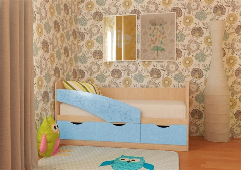 """Детская кровать """"Бабочки 1,6 м"""" 3 ящика - фото 12542"""