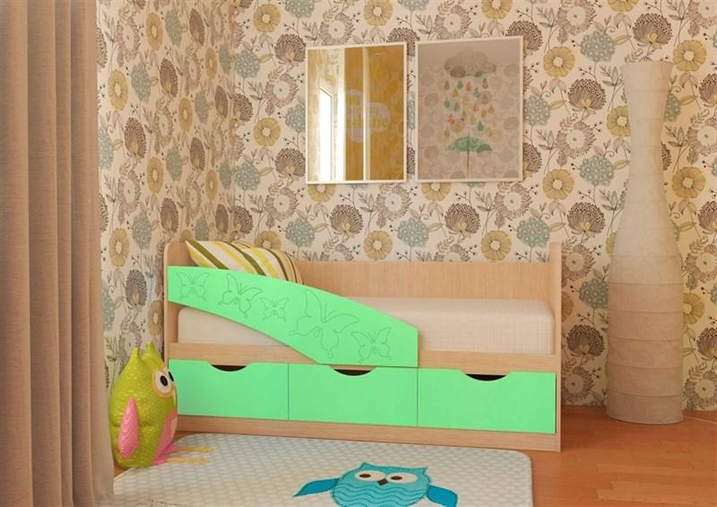 """Детская кровать """"Бабочки"""" 1,8 м., 3 ящика - фото 12547"""