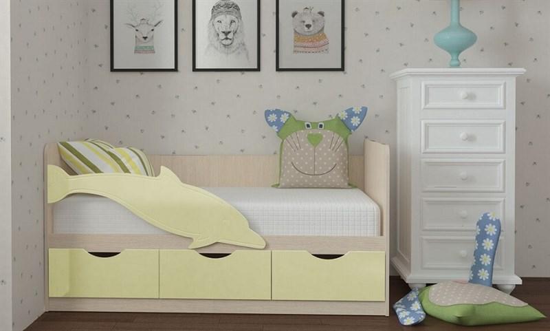 """Детская кровать """"Дельфин №3"""" 1,8 м., 3 ящика без ручек - фото 12614"""