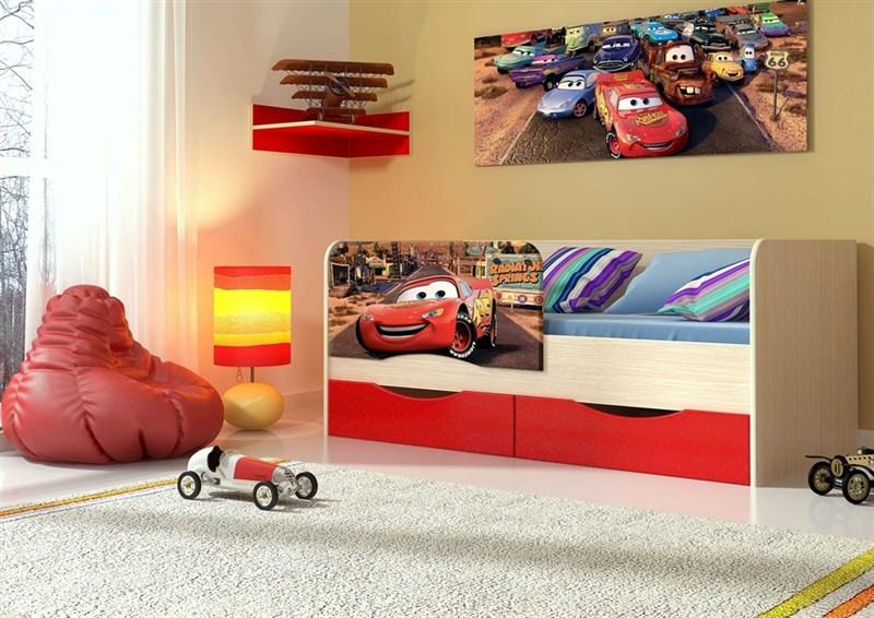 """Детская кровать """"Тачки"""" 1,6 м - фото 12621"""