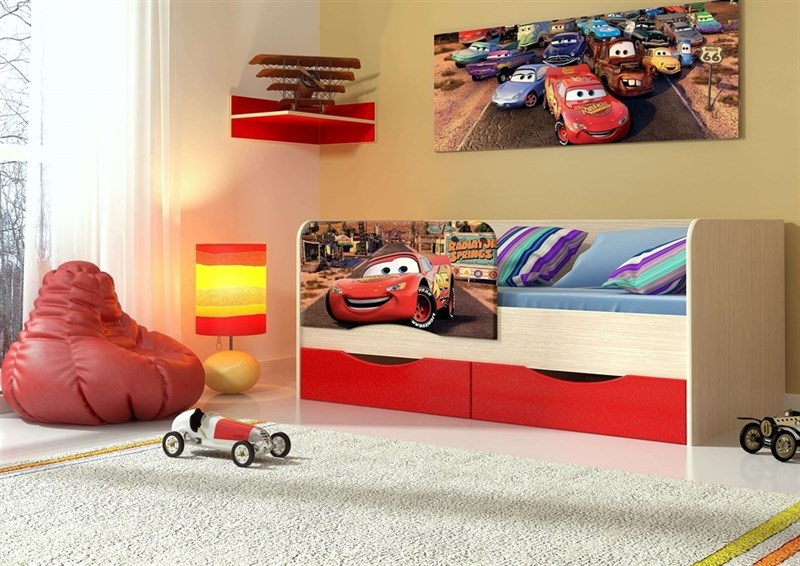 """Детская кровать """"Тачки"""" 1,8 м - фото 12622"""