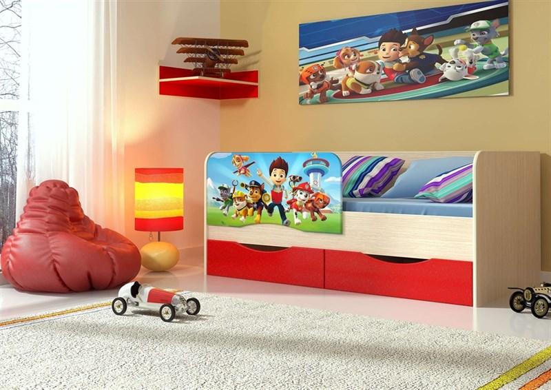 """Детская кровать """"Щенячий патруль"""" 1,6 м - фото 12624"""