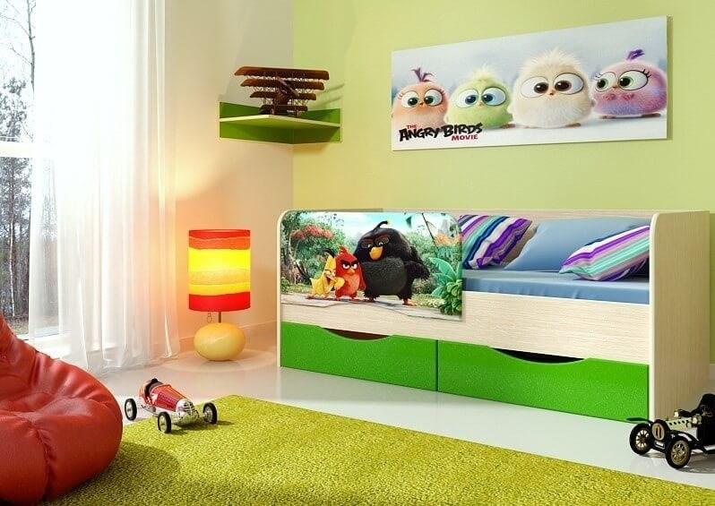 """Детская кровать """"Энгри"""" 1,6 м - фото 12628"""