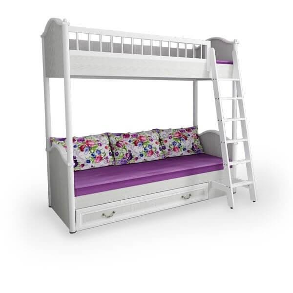 """Кровать 2-х ярусная с лестницей """"Классика"""" - фото 12651"""
