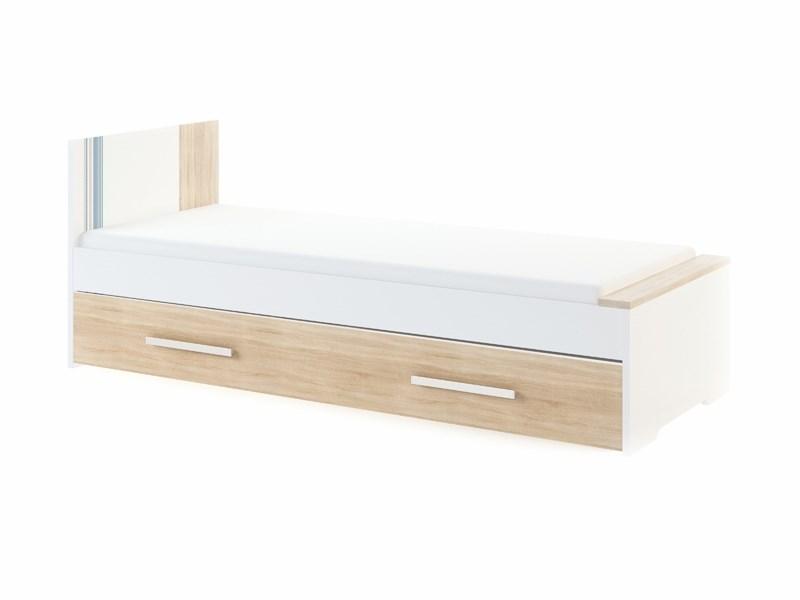 """Кровать большая 0,8 без выкатной кровати/ящика """"Лион"""" модуль 3 - фото 12892"""