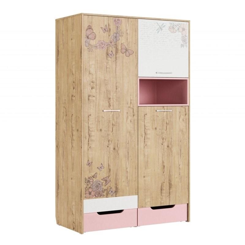"""Шкаф для одежды """"Дублин Роуз"""" модуль 10 - фото 13048"""