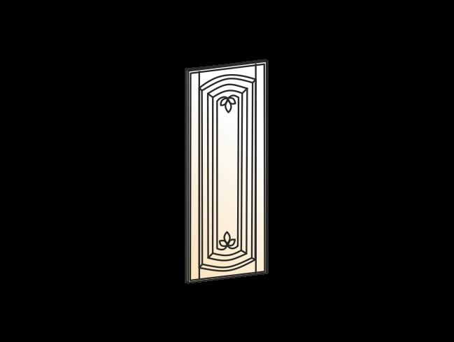 """""""Бергамо Дверь (Декор) L270 конц.45 Шкаф рабочий (эмаль)"""""""