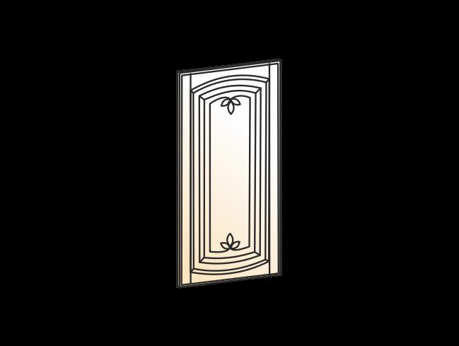 """""""Дверь (Декор) L551 Шкаф рабочий (эмаль) """"Бергамо"""""""