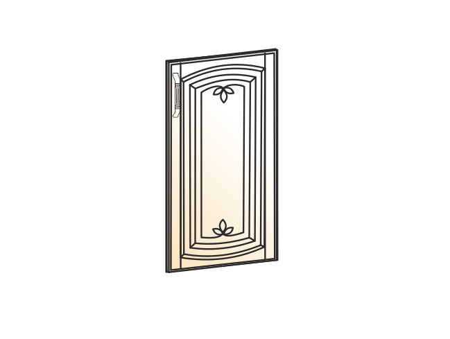 """""""Дверь глухая L600 (эмаль) """"Бергамо"""""""