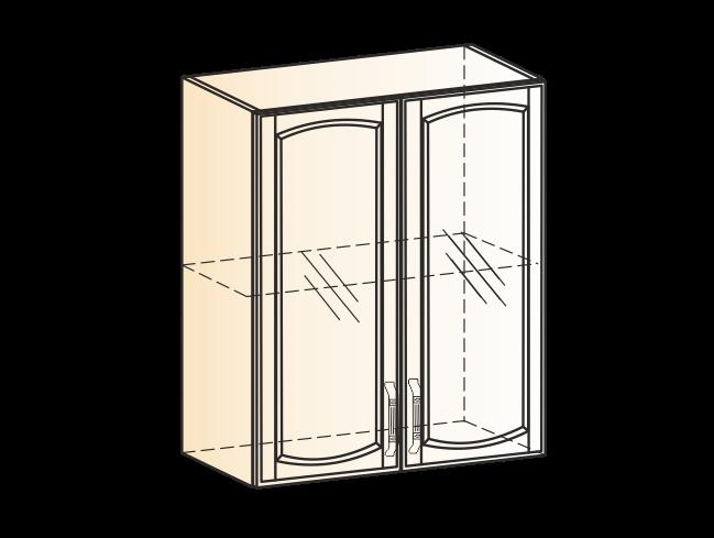 """Шкаф навесной L600 H720 (2 дв. рам.) (эмаль) ""Бергамо"""