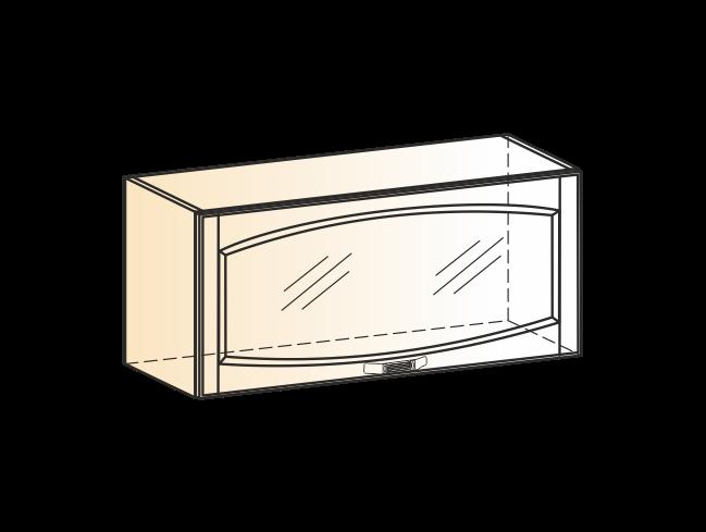 """Шкаф навесной L800 H360 (1 дв. рам.) (эмаль) ""Бергамо"""