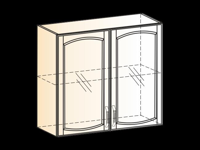 "Шкаф навесной L800 H720 (2 дв. рам.) (эмаль) "" Бергамо"""