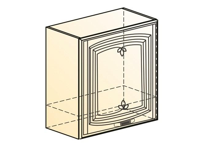 """""""Шкаф навесной под вытяжку L600 Н566 (1 дв. гл.) (эмаль) """"Бергамо"""""""