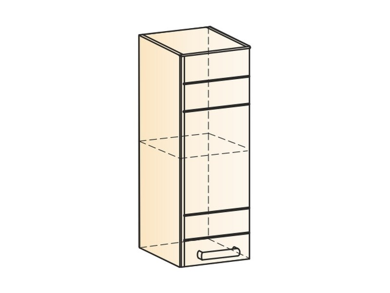 "Шкаф навесной L200 H720 (1 дв. гл.) ""Мечта"""