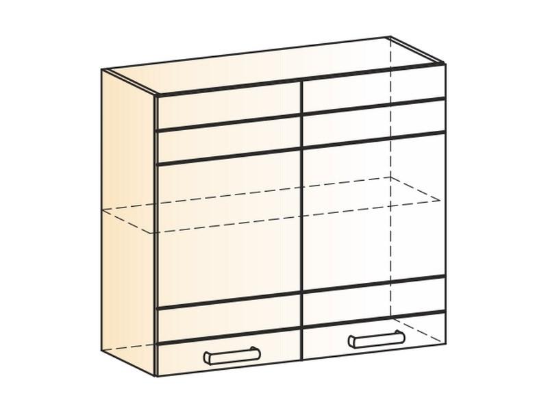 """Шкаф навесной L800 Н720 (2 дв. гл.) """"Мечта"""""""
