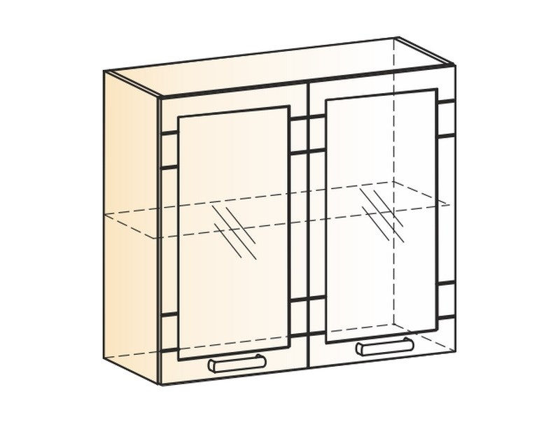 "Шкаф навесной L800 Н720 (2 дв. рам.) "" Мечта"""