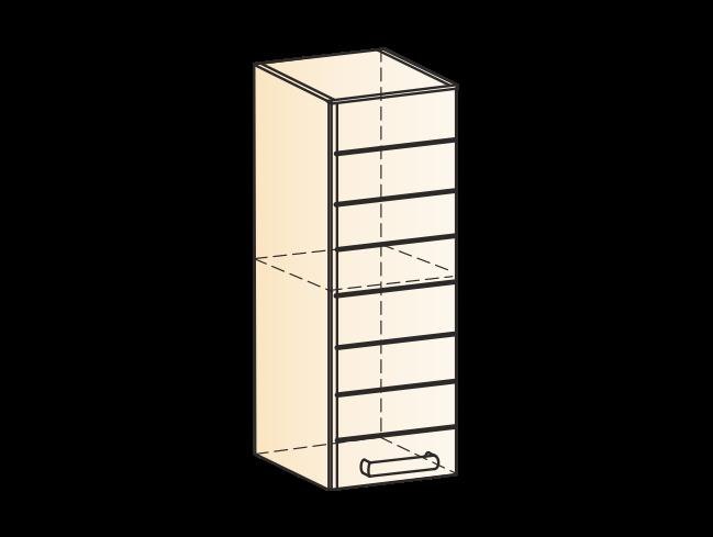 """Шкаф навесной L200 H720 (1 дв. гл.) """" Виктория"""""""