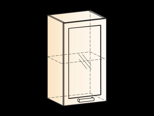 """Шкаф навесной L400 Н720 (1 дв. рам.) """"Виктория"""""""