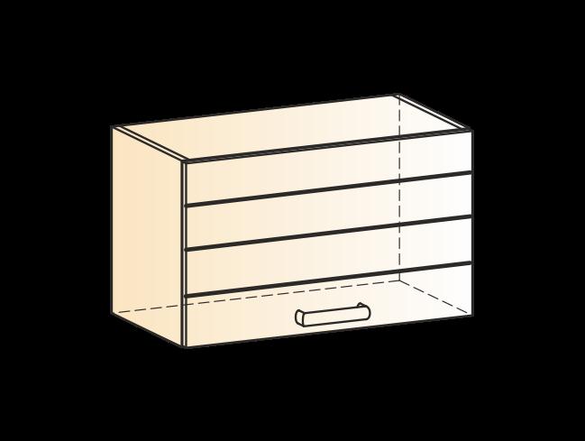 """Шкаф навесной L600 Н360 (1 дв. гл.) """"Виктория"""""""