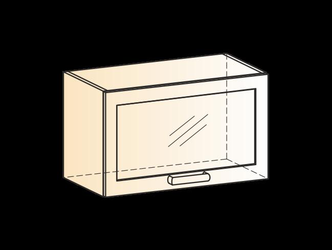 """Шкаф навесной L600 Н360 (1 дв. рам.) """"Виктория"""""""