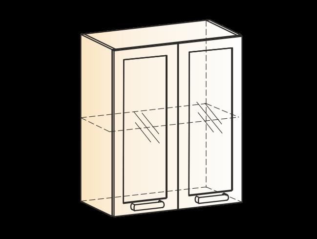 """Шкаф навесной L600 Н720 (2 дв. рам.) """"Виктория"""""""