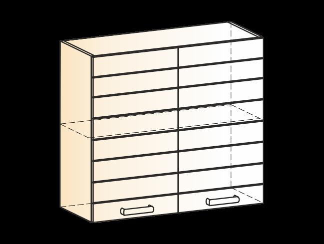 """Шкаф навесной L800 Н720 (2 дв. гл.) """"Виктория"""""""