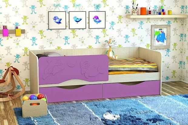 """Кровать """"Дельфин-2"""" МДФ 1,6 м. - фото 14662"""
