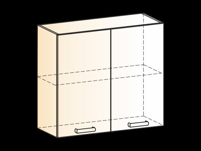 """Шкаф навесной L800 Н720 (2 дв. гл.) """"Яна"""""""
