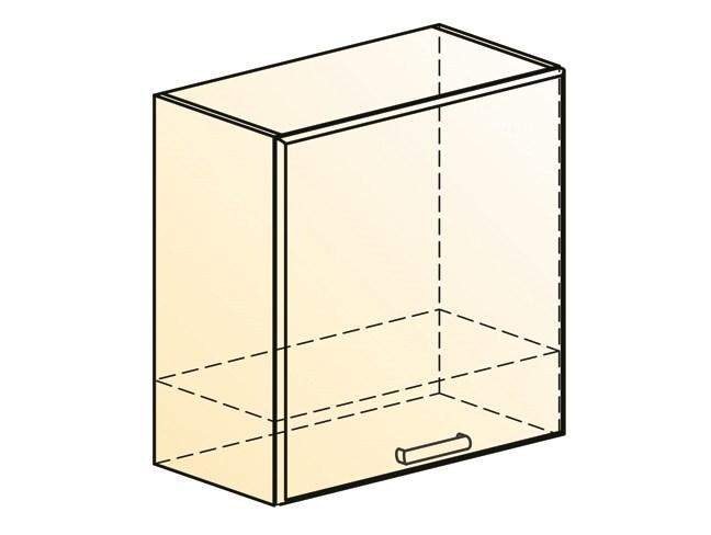 """Шкаф навесной под вытяжку L600 Н566 (1 дв. гл.) """" Яна"""""""