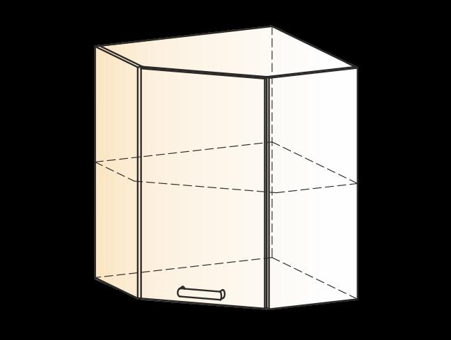"Шкаф навесной угл. L600х600 Н720 (1 дв. гл.) ""Яна"""