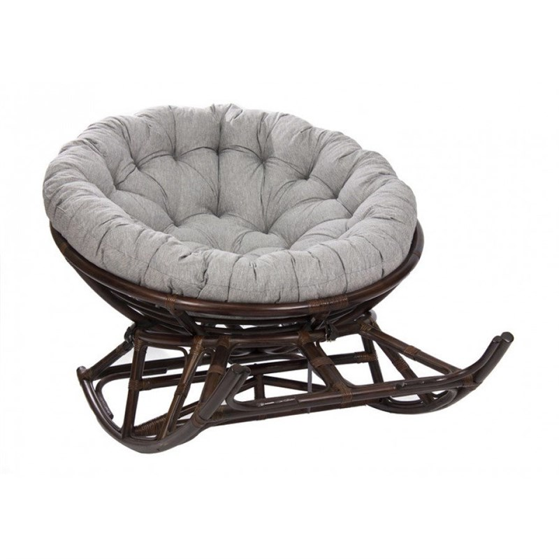 "Кресло-качалка с подушкой на полозьях MI-005 ""Papasan ROCKER CHAIR"""