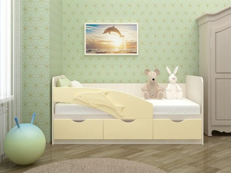 """Детская кровать """"Дельфин №3"""" 1,6 м., 3 ящика без ручек - фото 21161"""