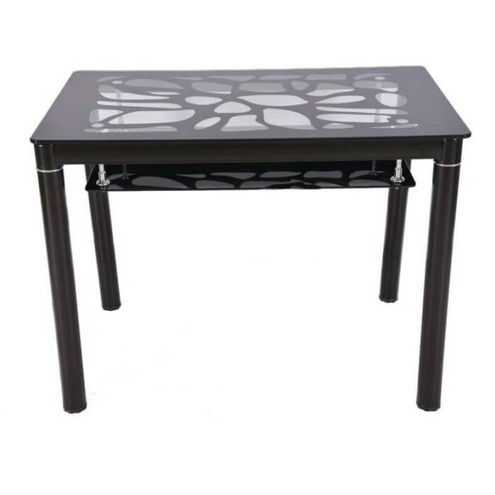 Стол обеденный В 828-2 стекло черный