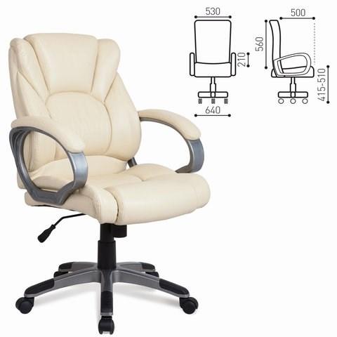 Кресло офисное BRABIX Eldorado EX-504, экокожа, бежевое, 531167 - фото 21532