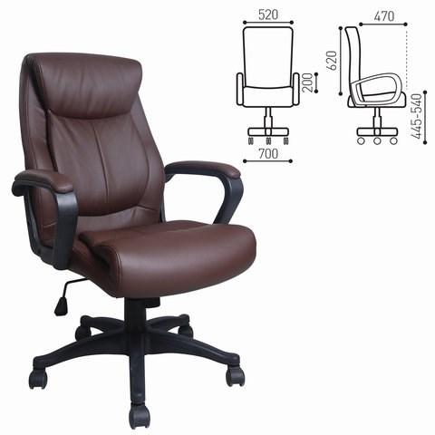 Кресло офисное BRABIX Enter EX-511, экокожа, коричневое, 531163 - фото 21537