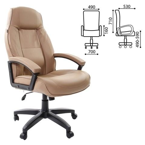 Кресло офисное BRABIX Formula EX-537, экокожа, песочное, 531390 - фото 21546