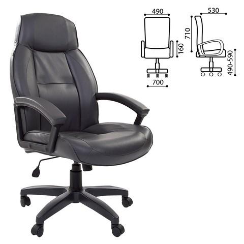 Кресло офисное BRABIX Formula EX-537, экокожа, серое, 531389 - фото 21547