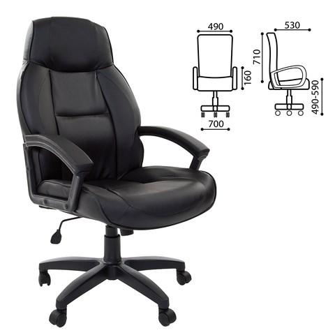 Кресло офисное BRABIX Formula EX-537, экокожа, черное, 531388 - фото 21548