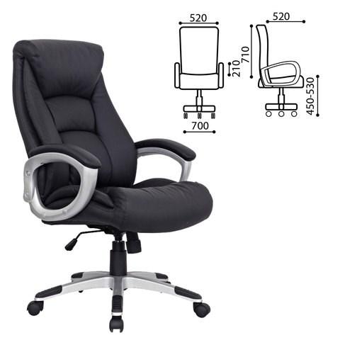 Кресло офисное BRABIX Grand EX-500, натур. кожа, черное, 530861 - фото 21551