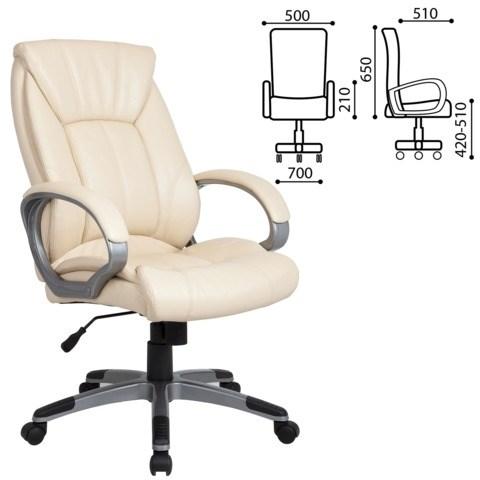 Кресло офисное BRABIX Maestro EX-506, экокожа, бежевое, 531168 - фото 21554