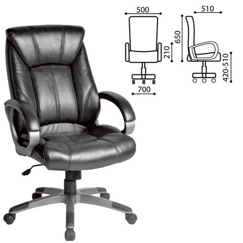 Кресло офисное BRABIX Maestro EX-506, экокожа, черное, 530877 - фото 21556