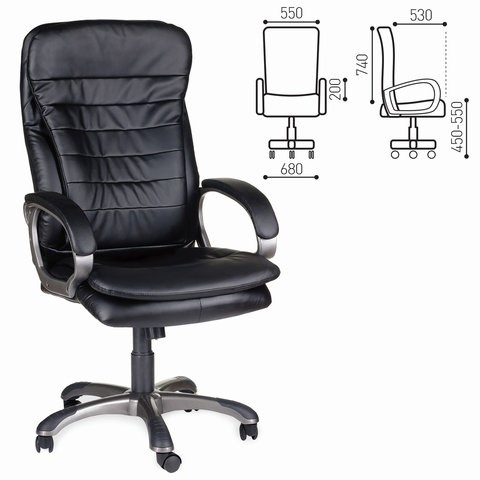 Кресло офисное BRABIX Omega EX-589, экокожа, черное, 531400 - фото 21560