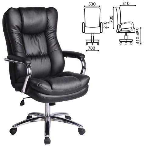 Кресло офисное BRABIX PREMIUM Amadeus EX-507, экокожа, хром, черное, 530879 - фото 21562