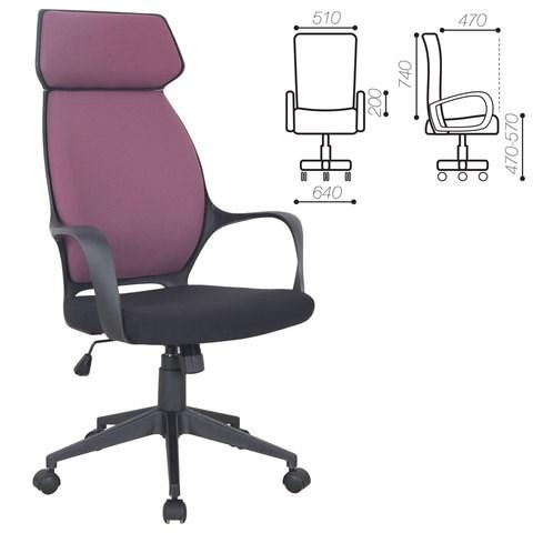 Кресло офисное BRABIX PREMIUM Galaxy EX-519, ткань, черное/терракотовое, 531570 - фото 21566