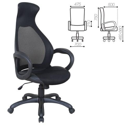 Кресло офисное BRABIX PREMIUM Genesis EX-517, пластик черный, ткань/экокожа/сетка черная, 531574 - фото 21568